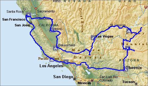 Сайт дальних зарубежных маршрутов - Route Map